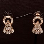 Earring in Rose Gold with American Diamond