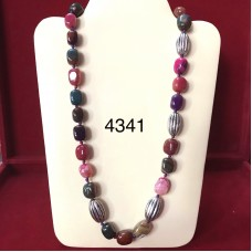 Bollywood Style Mix Color Long Necklace ( Mala )