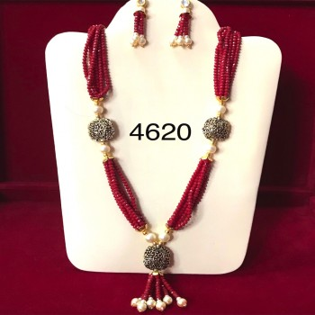 Ruby Necklace And Earring  in Western Jewelry