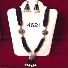 Western Design Sapphire Beads Necklace And Earring