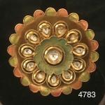 Floral Golden Mix Alloy Kundan Ring