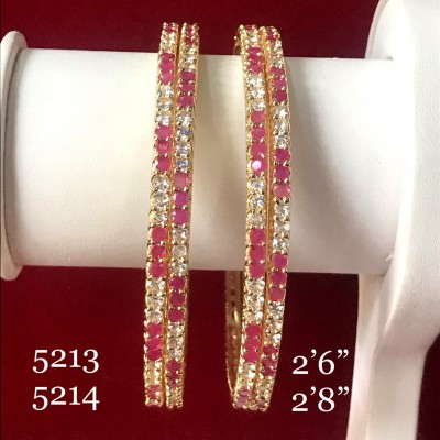 STYLE STATEMENT RUBY AD BANGLES IN GOLDEN POLISH
