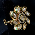 Kundan Work Floral Designer With AD Ring