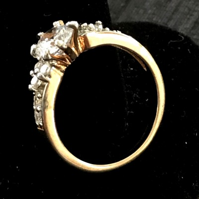 SUPER SOLITAIRE WHITE SPARKLING AD RING
