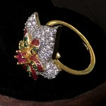 VINTAGE STYLE FUSION AD RING WITH RUBY SOLITAIRE