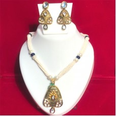 Shining Gold-Plated Kundan Necklace for Women