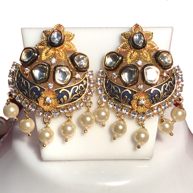 5b0259aaf Indian Traditional Wedding set with pearl Mala in Fusion