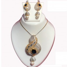 Ethnic Pendent set with American Diamond