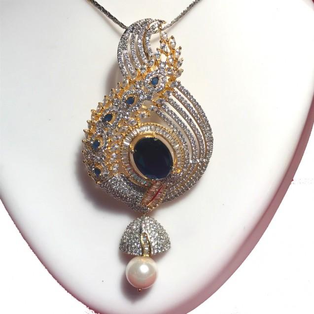 Ethnic Pendent set with American Diamond