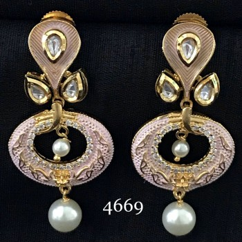 BEAUTIFUL MINT  INDO WESTERN DESIGNER EARRING