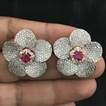 Flower Style Tops Earring