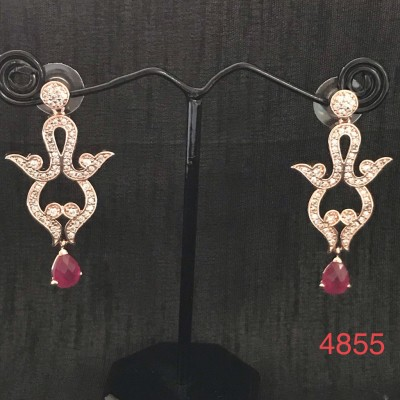 A Western Design Rose Gold Color Earring For Party wear..