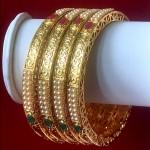INDIAN TRADITIONAL DESIGNER GOLDEN BANGLES