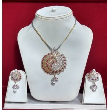 Exclusive  Traditional Necklace with Red ,American Diamond Stone & White Pearl
