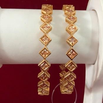 Indian American Diamond Bollywood Zircons Made Bangles  Jewelry