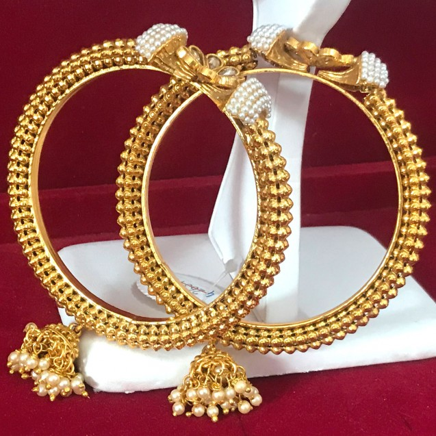 Indian Jewelry Gold Plated Bangles Set Bollywood Traditional