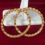 Women Jewelry AD Stone Rose Tone Stones Bangles Set Bollywood Jewelry