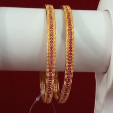 Exclusive Bangles With Red Color Stone