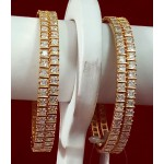 Exclusive Designer Bangles with American Diamond and Color Stones
