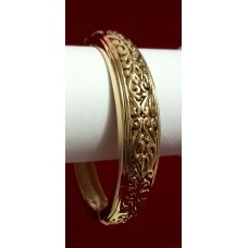 Decent Golden Polish and Oxodised Bracelet for Casual Wear