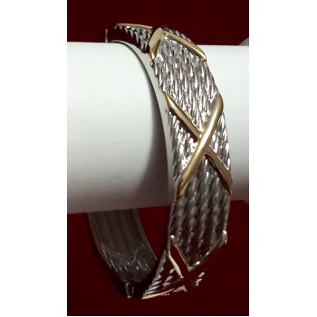 Nice Silver and Gold  Plated Bracelet For Casual Wear